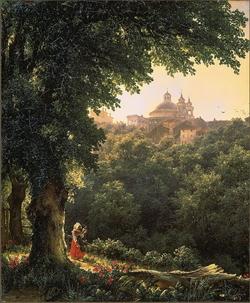 Аричча близ Рима (М.И. Лебедев, 1836)