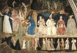 Правая сторона фрески при церкви С. Мария Новелла (Андреа да Фиренце)