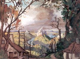 Сельский пейзаж. 1910 г.