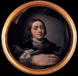 Автопортрет в выыпуклом зеркале (Франческо Маццола Пармеджанино)