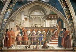 Святой Франциск перед папой (Доменико Гирландайо)
