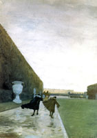 """Король прогуливался в любую погоду.. (Сен-Симон)"". 1898 г."
