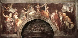 Фрески в соборе S.Maria della Pace (Бальдассаре Перуцци)