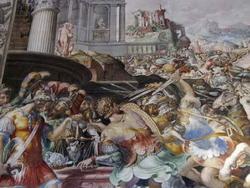 Битва римлян с галлами (Франческо Сальвати)