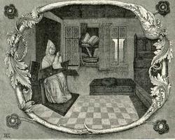 Художник-миниатюрист за работой (миниатюра из рукописи XV в.)