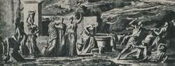 Моисей защищает дочерей Иофора (Н. Пуссен)