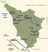 Карта Тосканы
