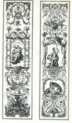 Рисунки шпалерных портьер (Клод Ордан)