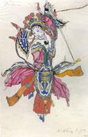 Танцовщица в процессии китайского императора. 1914 г.