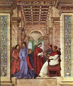 Основание Ватиканской библиотеки (Мелоццо де Форли)