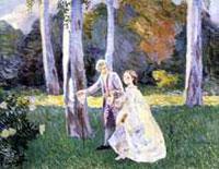 Прогулка в парке (В.Э. Борисов-Мусатов)