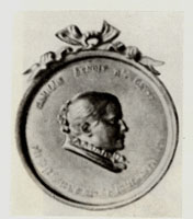 Медальон с портретом К.А. Бенуа. (А.Л. Обер, 1892 г.)