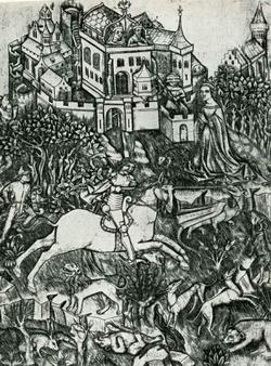 Битва св. Георгия с драконами (сер. XV века)