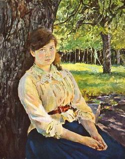 Девушка, освещенная солнцем (В.А. Серов)