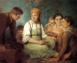Группа крестьян (А. Г. Венецианов, пастель)