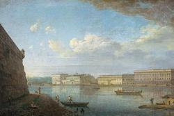 Вид Дворцовой набережной от Петропавловской крепости (Алексеев Ф.Я., 1794 г.)