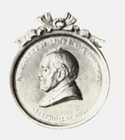 Медальон с портретом Н.Л. Бенуа. (А.Л. Обер, 1892 г.)