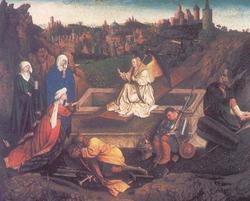 Три Марии у гроба господня (Губерт ван Эйк)