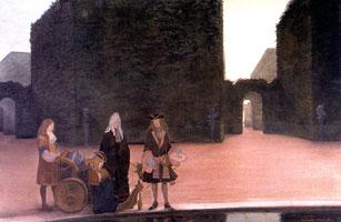 У бассейна Цереры. 1897 г. Версаль. Людовик XIV кормит рыб. 1897 г.