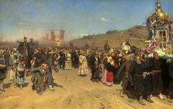 Крестный ход в Курской губрнии (И.Е. Репин, 1880-83)