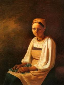 Девушка с бурачком (А.Г. Венецианов, 1824 г.)