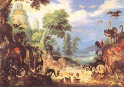Пейзаж с птицами (Р. Саверей)