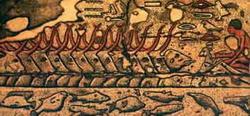 Рыбная ловля (барельеф на гробнице в Сакка)