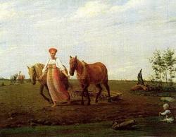На пашне. Весна (А.Г. Венецианов, 1820-х гг.)