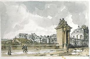 Общий вид на дворец с дороги в Сен-Сир: Аквилон. 1922 г