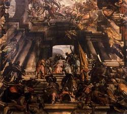 Мучение св. Пантелеймона - фрагмент плафона (Дж.А. Фумиани)