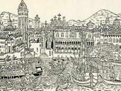 Вид Венеции. С деревянной гравюры конца V века