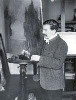 Л.С. Бакст в своей мастерской. 1908 г