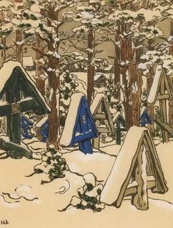 Городок зимой (М.В. Якунчикова-Вебер, 1898)