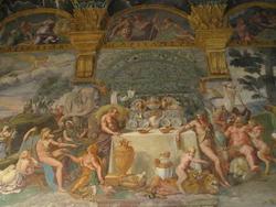 Приготовления к свадебному банкету Купидона и Психеи (Джулио Романо)
