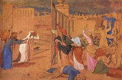 Богоматерь, ученики Христа и женщины, следовавшие за ним, смотрят издали на Распятие (Иванов А.А.)