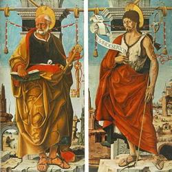 Полиптих Гриффони: Святые Петр и Иоанн Евангелисты (Франческа Косса)