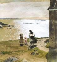 Озеро Примель. Бретань. 1905 г.
