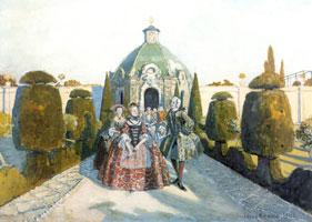 Свадебная прогулка. 1906 г.