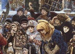 Деталь картины Боярыня Морозова (В.И. Суриков)