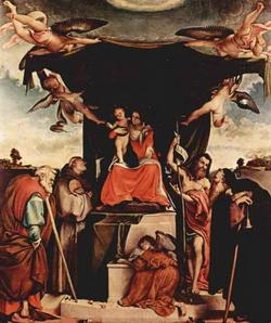 Мадонна со святыми (Лоренцо Лотто, 1521 г.)