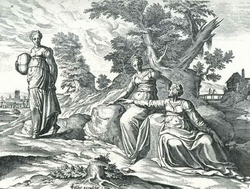 Руфь остается со свекровью (А. де Вердт)