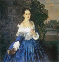 Дама в голубом (К.А. Сомов)