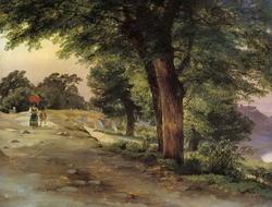 В парке Гиджи (Лебедев М.И., 1837)
