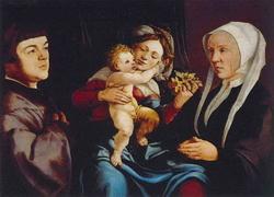 Мадонна с младенцем и родителями (Ян Скорель)