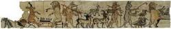 Древнеегипетский папирусный свиток с карикатурами