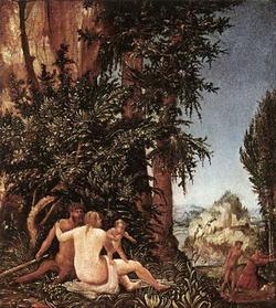 Пейзаж с семейстом сатиров (А. Альтдрфер, 1507 г.)