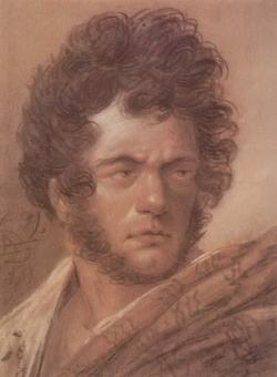 Автопортрет в красном плаще (Орловский А.О.)