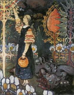 Змий (Е.Д. Поленова, эскиз, 1895-1898)