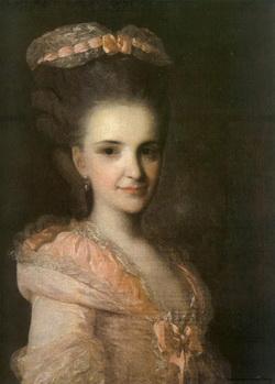 Портрет неизвестной в розовом платье (Ф.С. Рокотов, 1770-е)