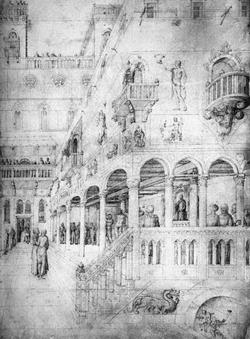 Бичевание спасителя (Якопо Беллини, рисунок)